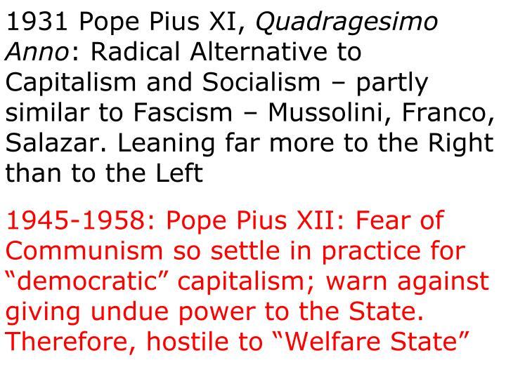 1931 Pope Pius XI,