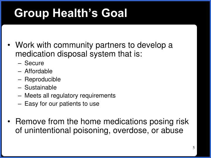 Group Health's Goal