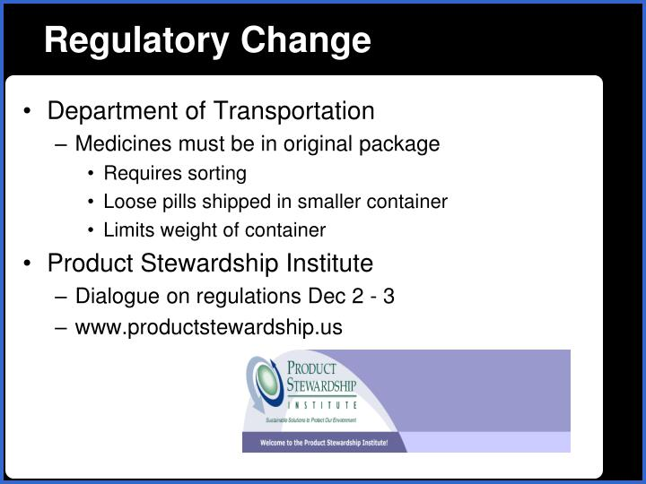 Regulatory Change