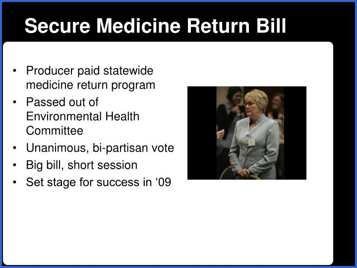 Secure Medicine Return Bill