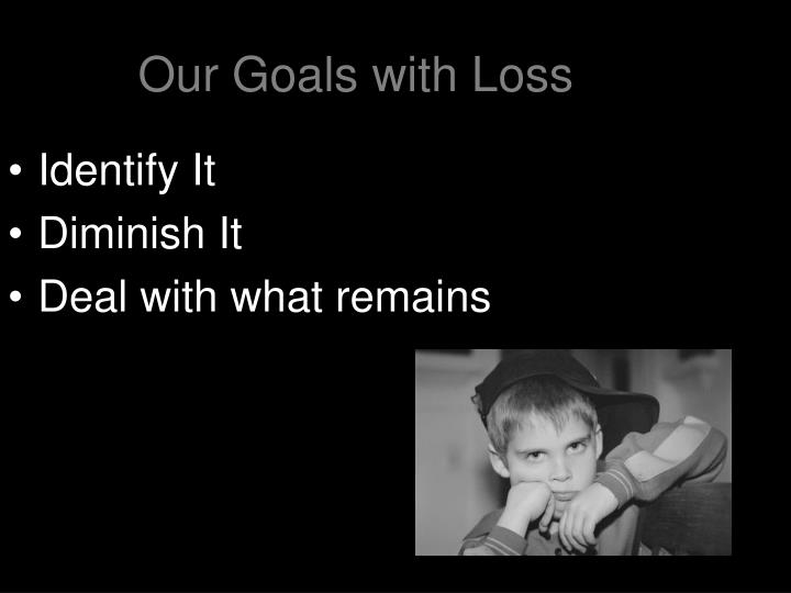 Our Goals with Loss
