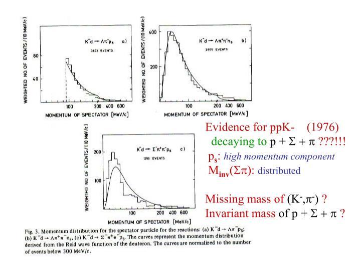 Evidence for ppK-
