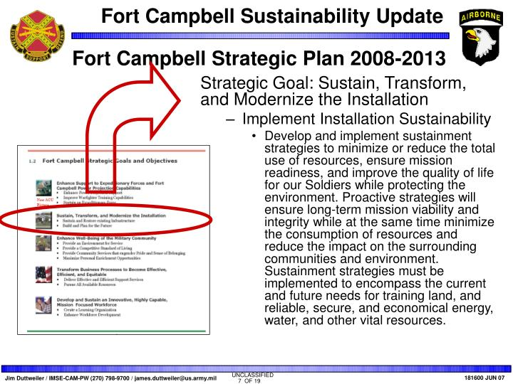 Fort Campbell Strategic Plan 2008-2013