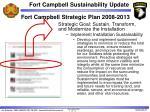 fort campbell strategic plan 2008 2013