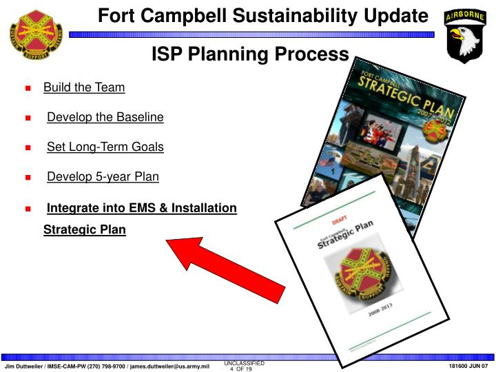 ISP Planning Process