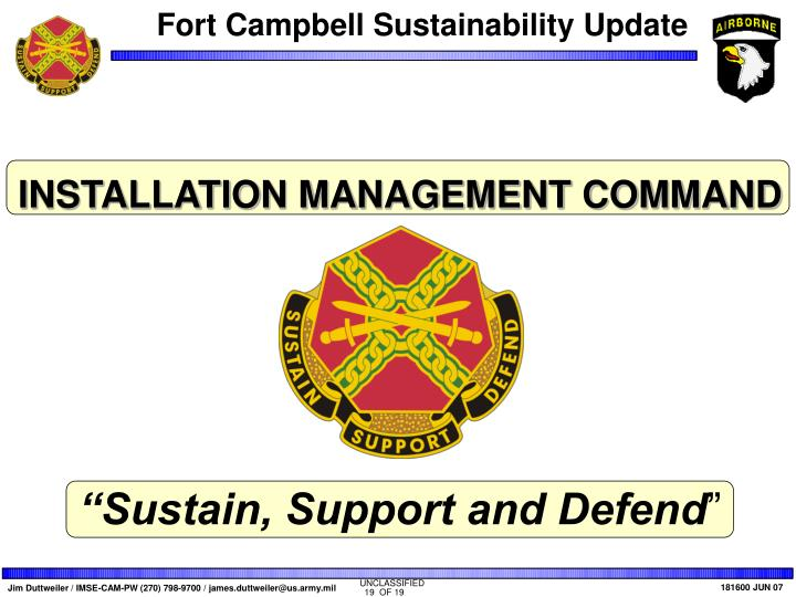 INSTALLATION MANAGEMENT COMMAND