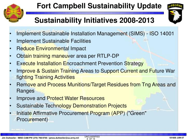 Sustainability Initiatives 2008-2013