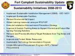 sustainability initiatives 2008 2013