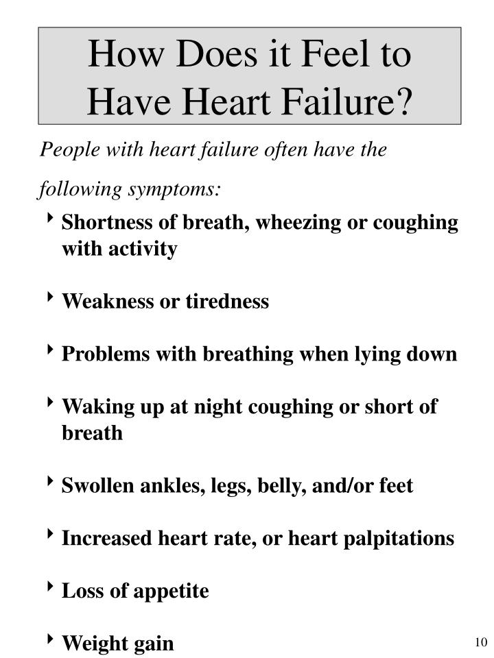 How Does it Feel to Have Heart Failure?