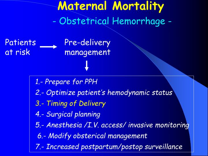 Maternal Mortality