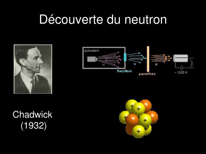 Découverte du neutron