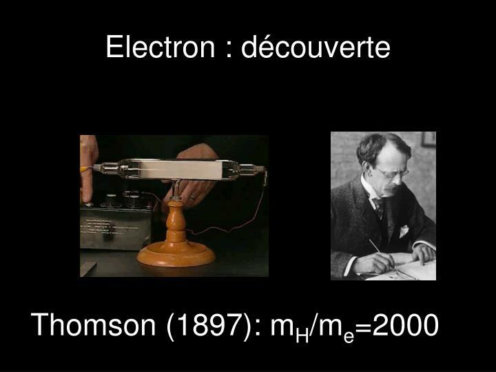 Electron : découverte