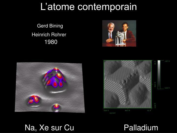 L'atome contemporain