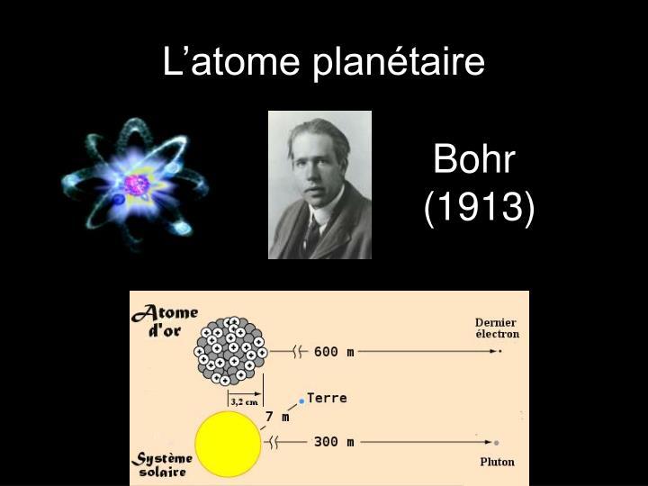 L'atome planétaire