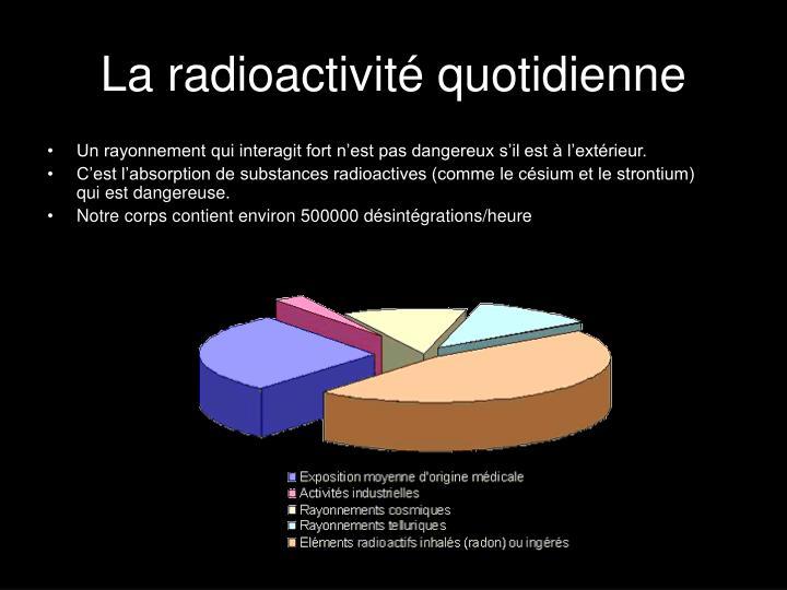 La radioactivité quotidienne