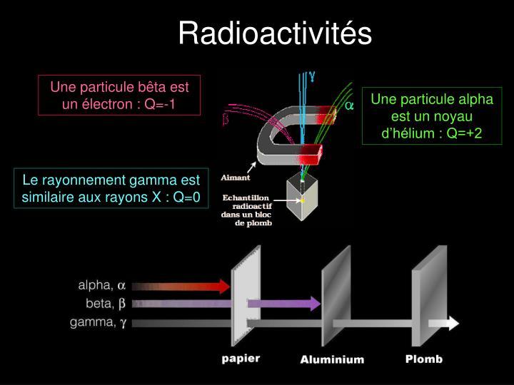 Radioactivités