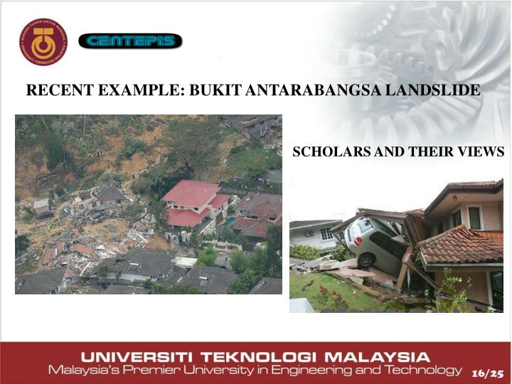 RECENT EXAMPLE: BUKIT ANTARABANGSA LANDSLIDE