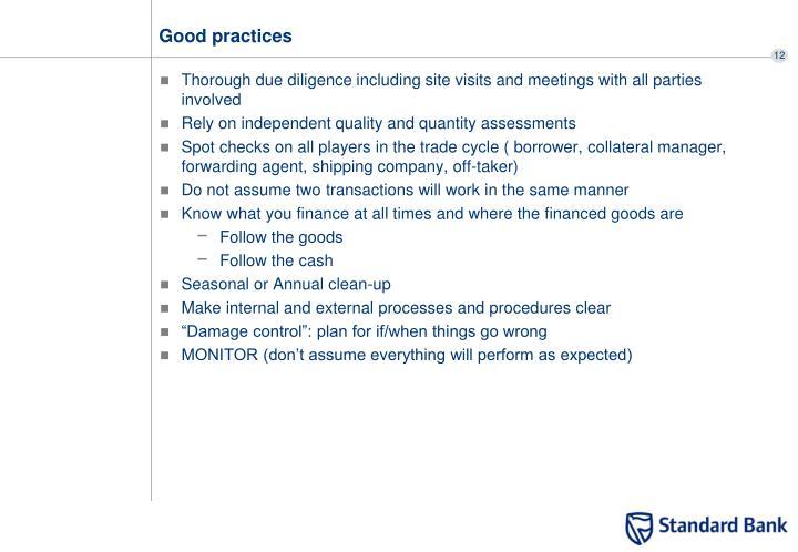 Good practices