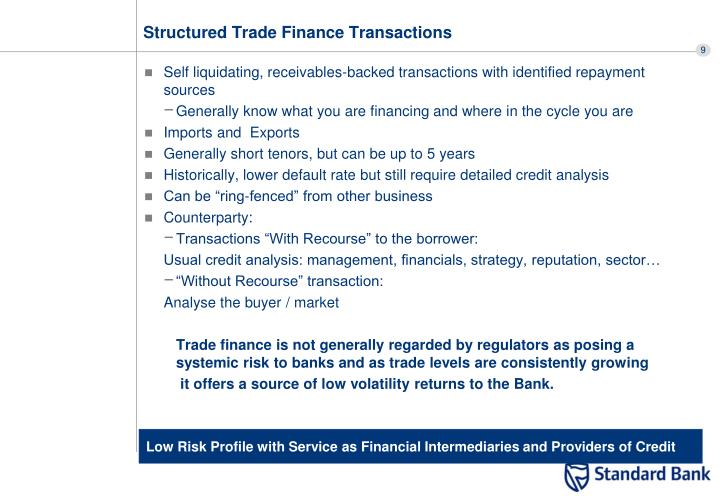 Structured Trade Finance Transactions