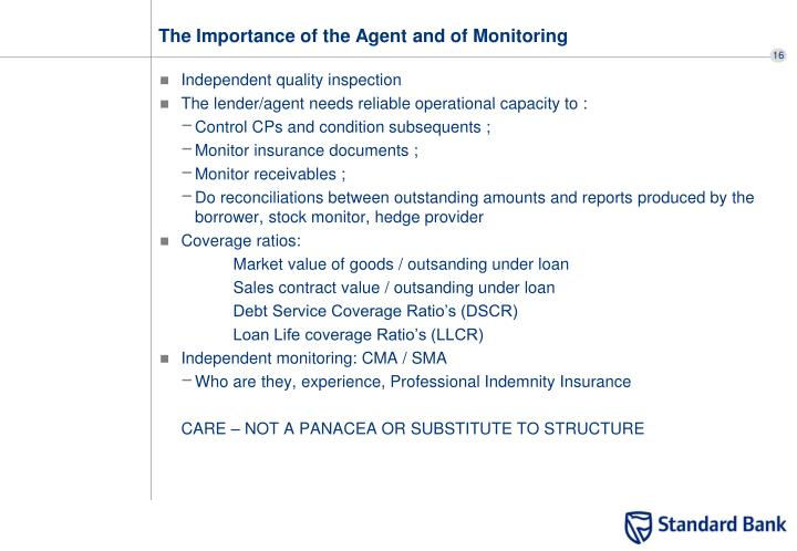 The Importance of the Agent and of Monitoring