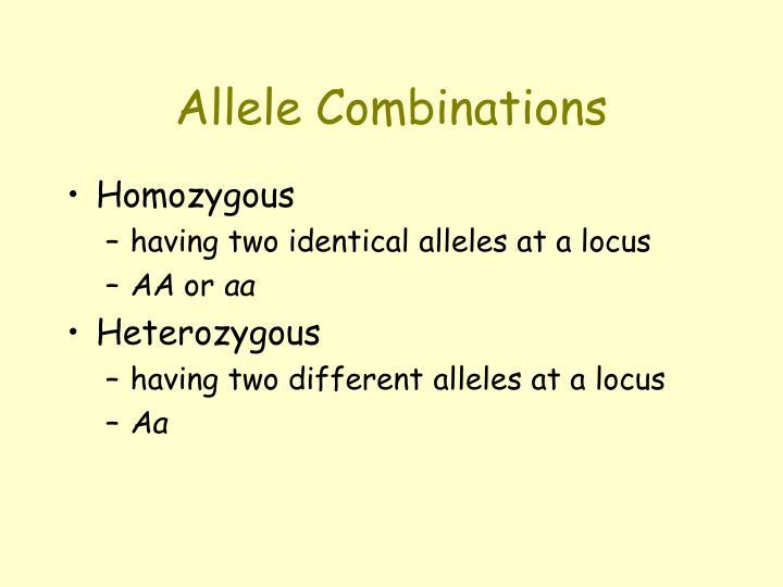 Allele Combinations