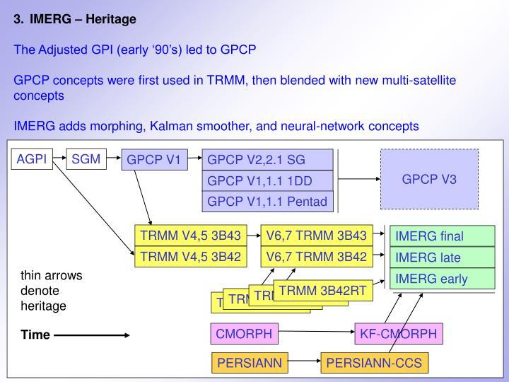 3.IMERG – Heritage