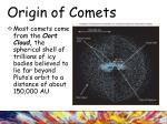origin of comets