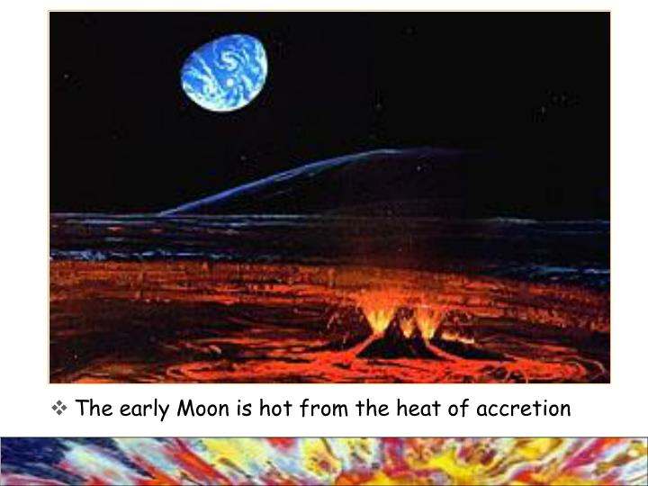 The early Moon is hot from the heat of accretion