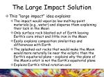 the large impact solution