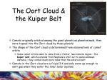 the oort cloud the kuiper belt