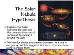 the solar nebula hypothesis1