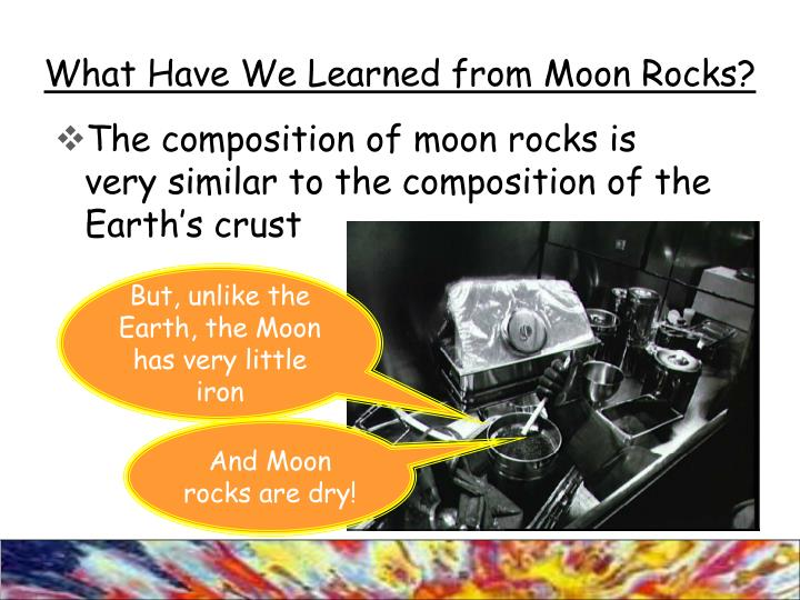 What Have We Learned from Moon Rocks?