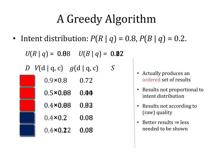 A Greedy Algorithm