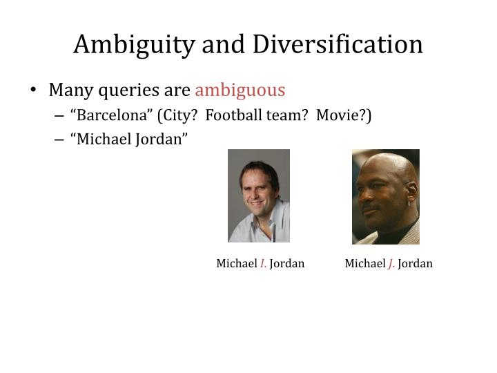 Ambiguity and Diversification
