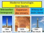 moderne kosmologie drei s ulen