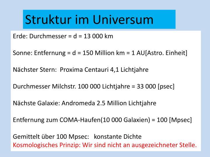 Struktur im Universum