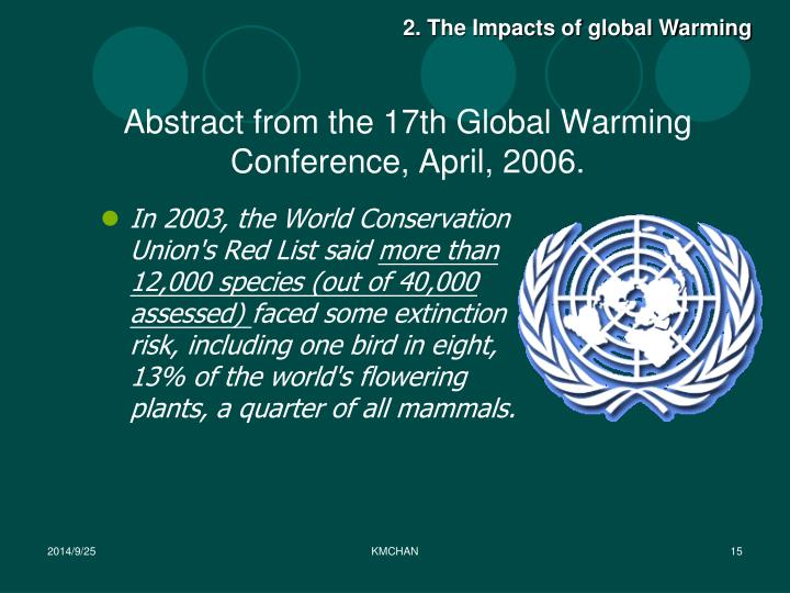 2. The Impacts of global Warming