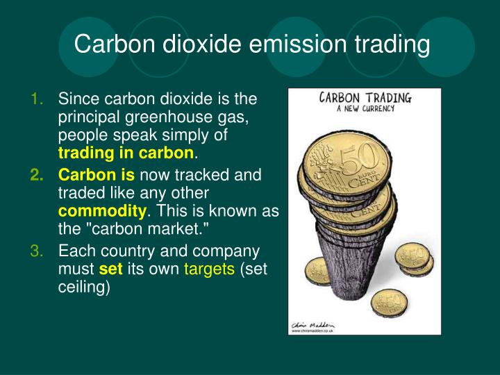 Carbon dioxide emission trading