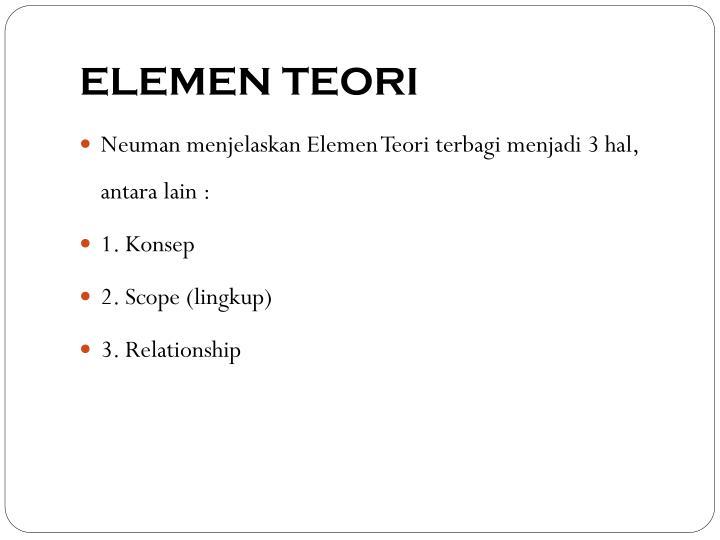 ELEMEN TEORI