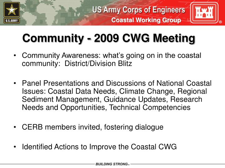 Community - 2009 CWG Meeting