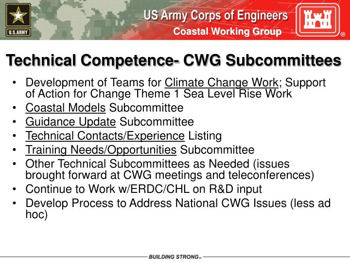 Technical Competence- CWG Subcommittees