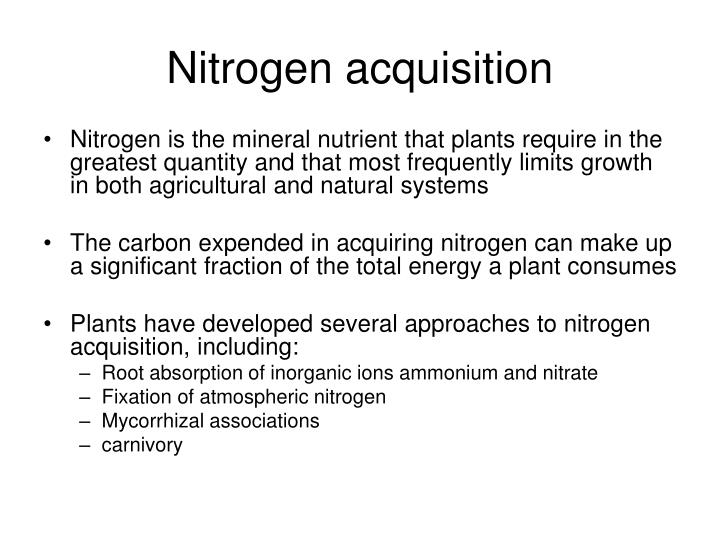 Nitrogen acquisition
