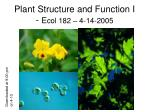 plant structure and function i e col 182 4 14 2005