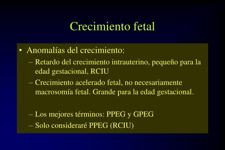 Crecimiento fetal