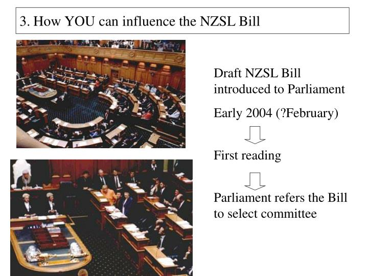 How YOU can influence the NZSL Bill