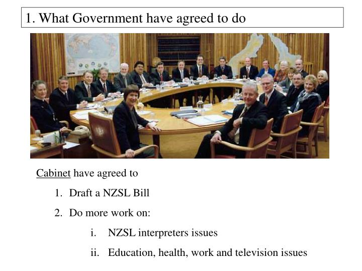 What Government have agreed to do