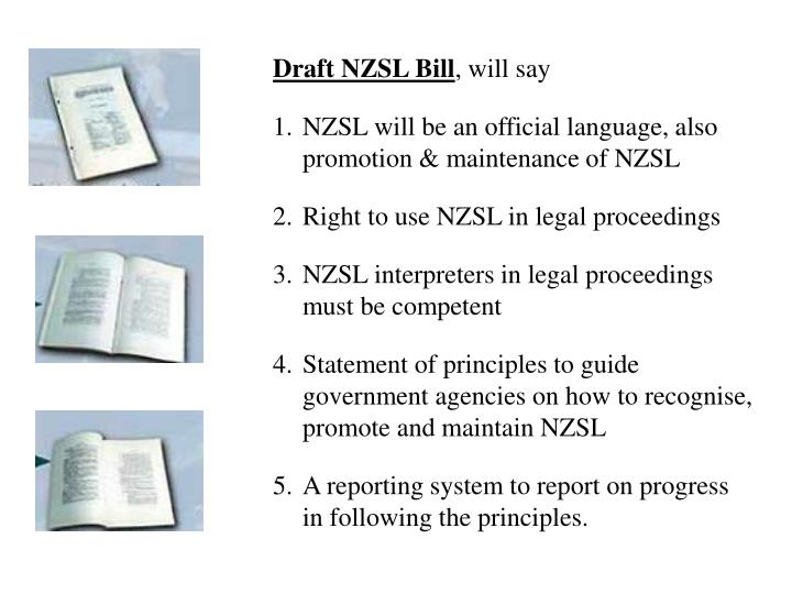 Draft NZSL Bill