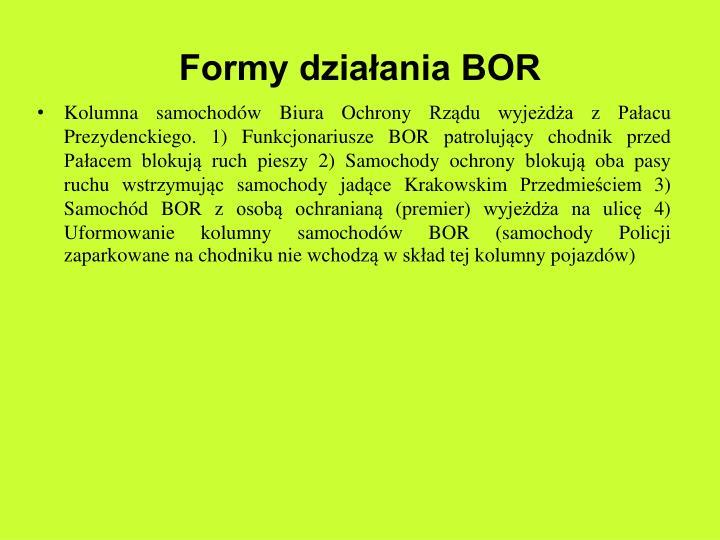 Formy działania BOR