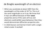 de broglie wavelength of an electron1