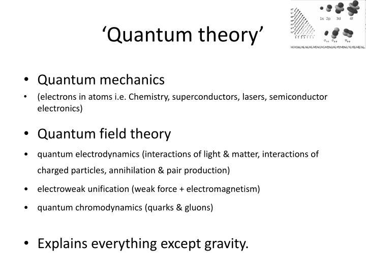 'Quantum theory'